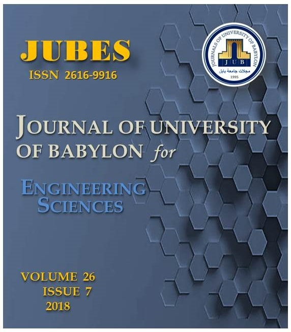 Journal of University of Babylon for Engineering Sciences, JUBES 26(7) 2018